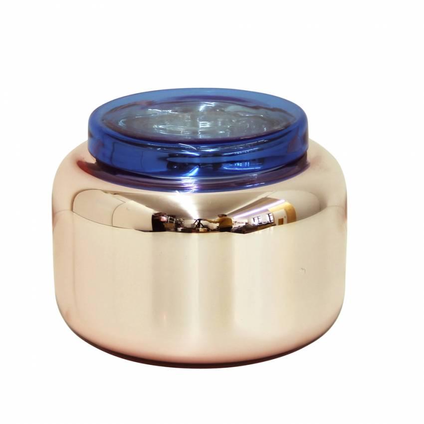 """Vase """"Low Container"""" / Vieux Rose et Bleu"""