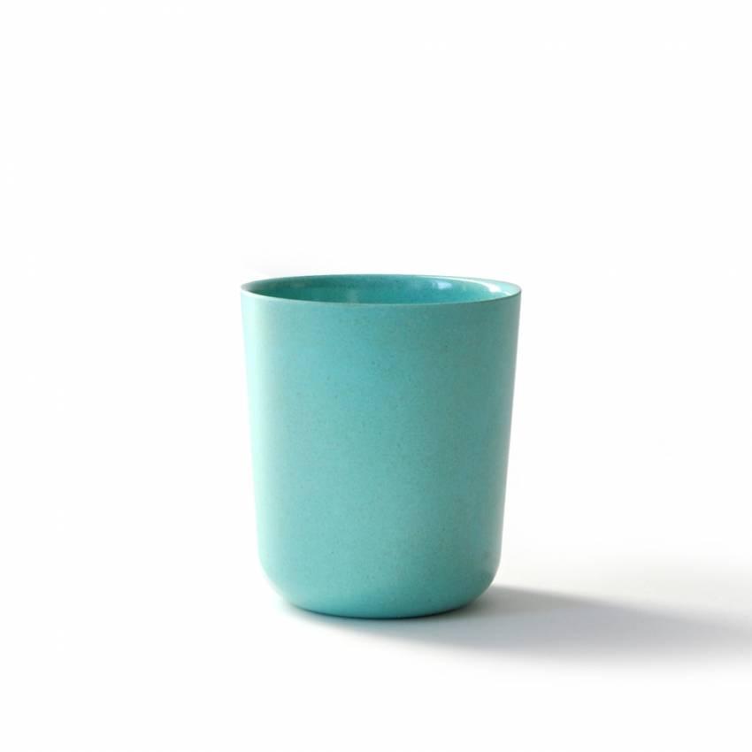 BIOBU 4 gobelets en bambou bleu lagon pour enfant - Ekobo