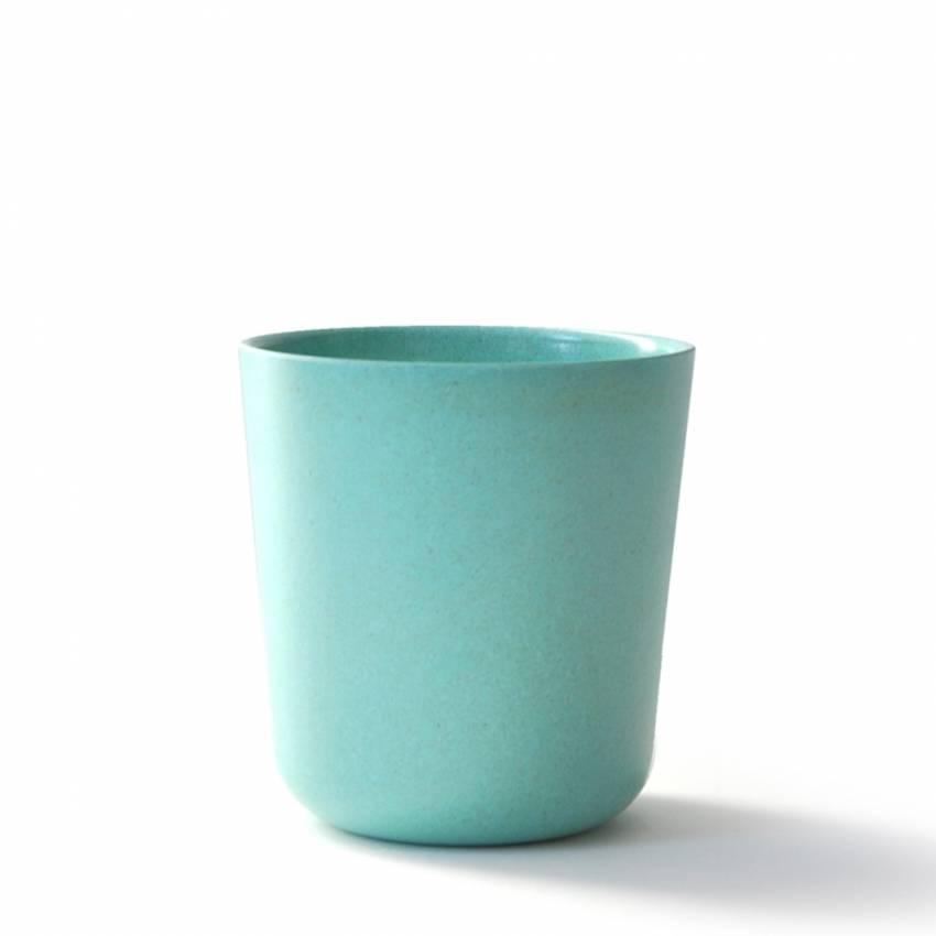 GUSTO BIOBU le verre bambou bleu lagon - Ekobo