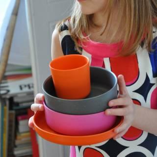 Set de table pour fille BIOBU multi couleur - Ekobo