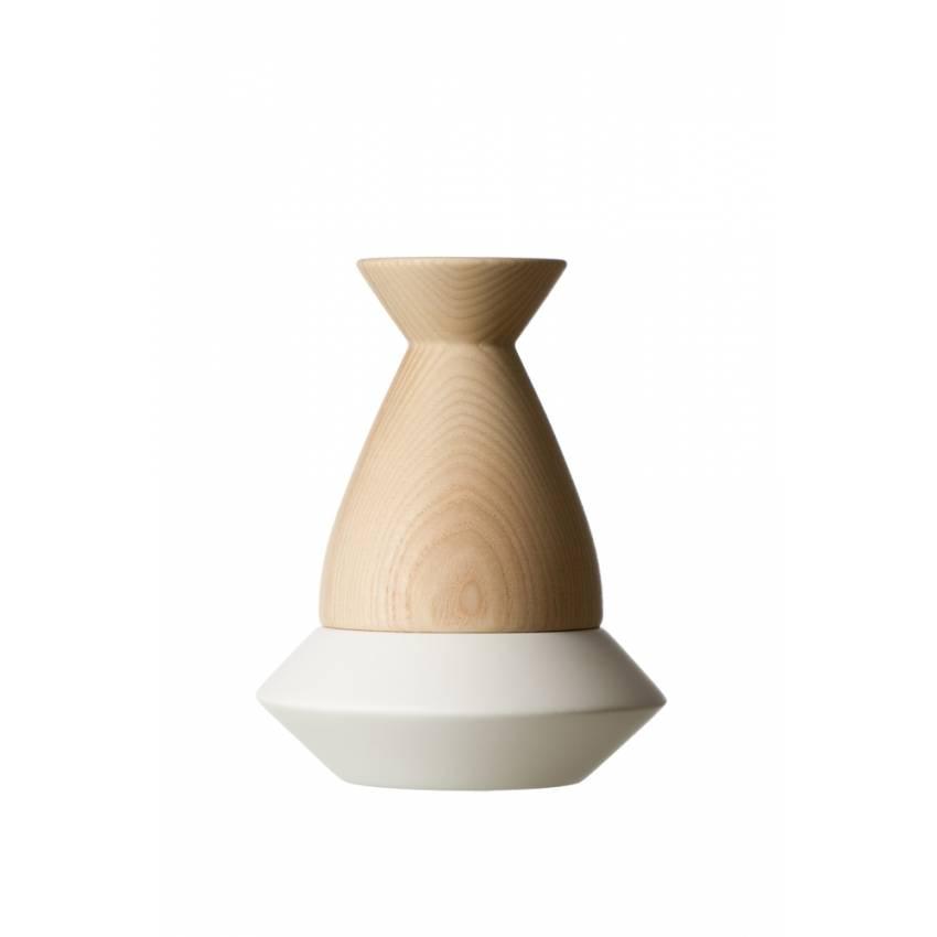 Bougeoir OVNI blanc et naturel - Filomen