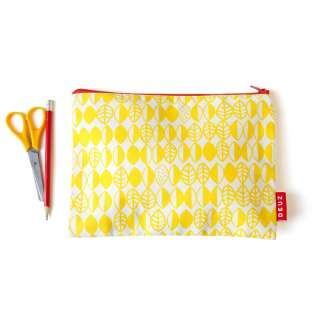Trousse medium jaune en coton bio - DEUZ