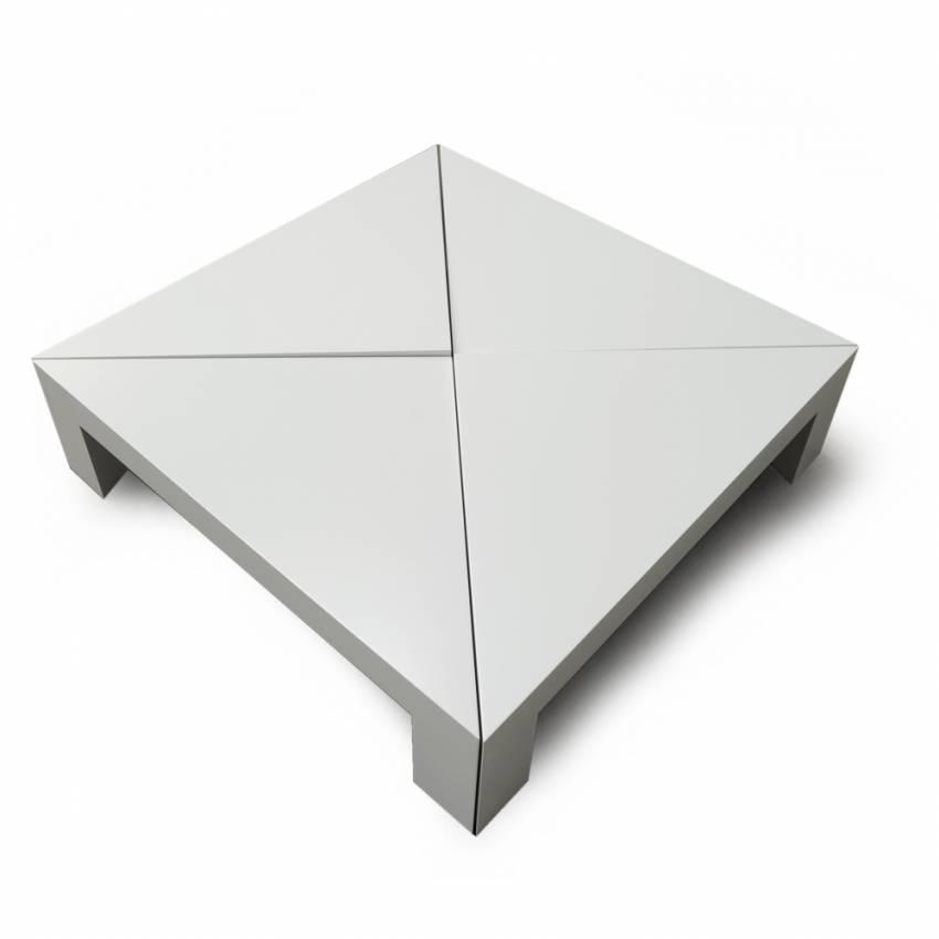 Table basse - 4x4 - Laqué blanc