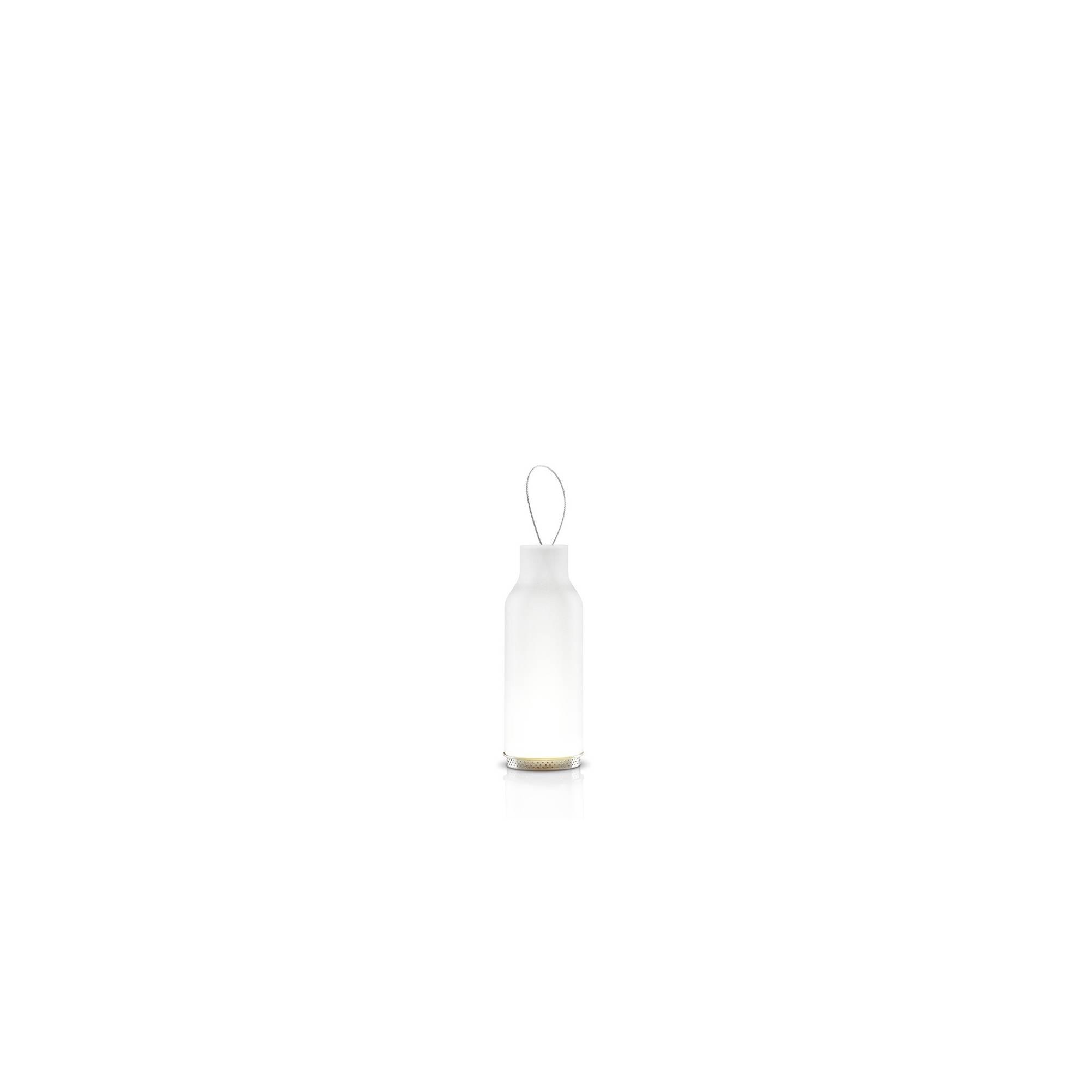lanterne bougie blanc givr. Black Bedroom Furniture Sets. Home Design Ideas