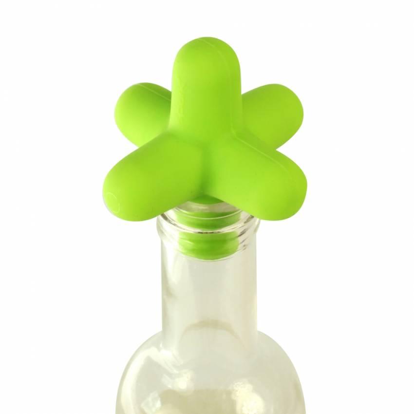 Cookut - Bouchon de bouteille en silicone SPARK vert acide