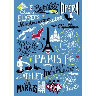 """Torchon à vaisselle """"PARIS"""" - AK-LH"""