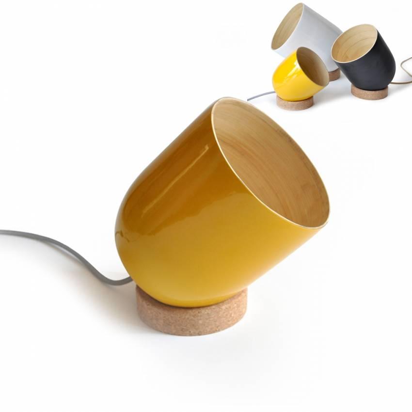 Lampe de bureau ajustable BRIO jaune - Ekobo