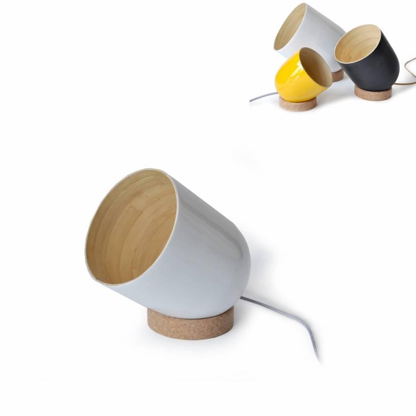 Lampe à poser amovible BRIO blanc - Ekobo