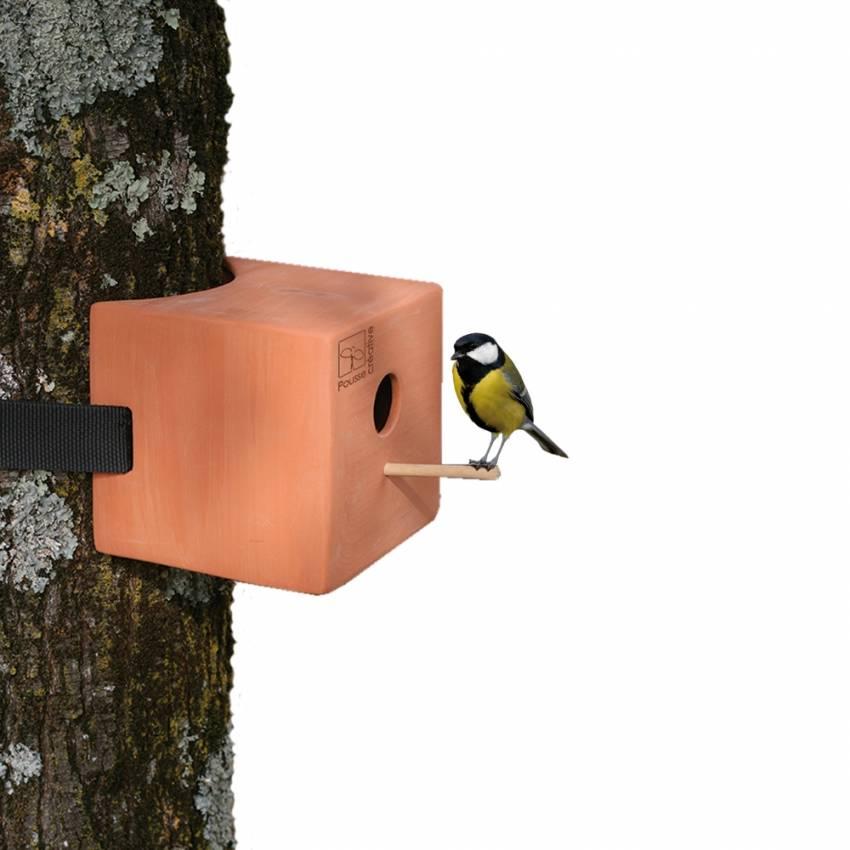 Nichoir carré en argile pour les oiseaux - Gasco