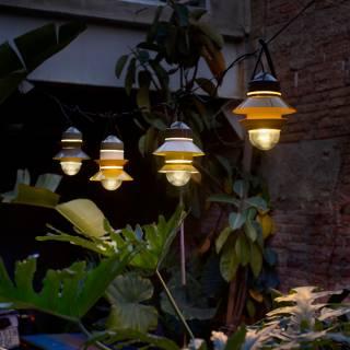 Suspension pour le jardin SANTORINI / Jaune Moutarde / Marset