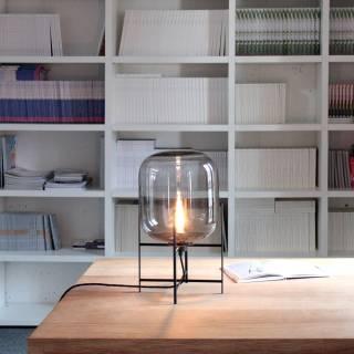 Lampe ODA SMALL / Ambre base noir