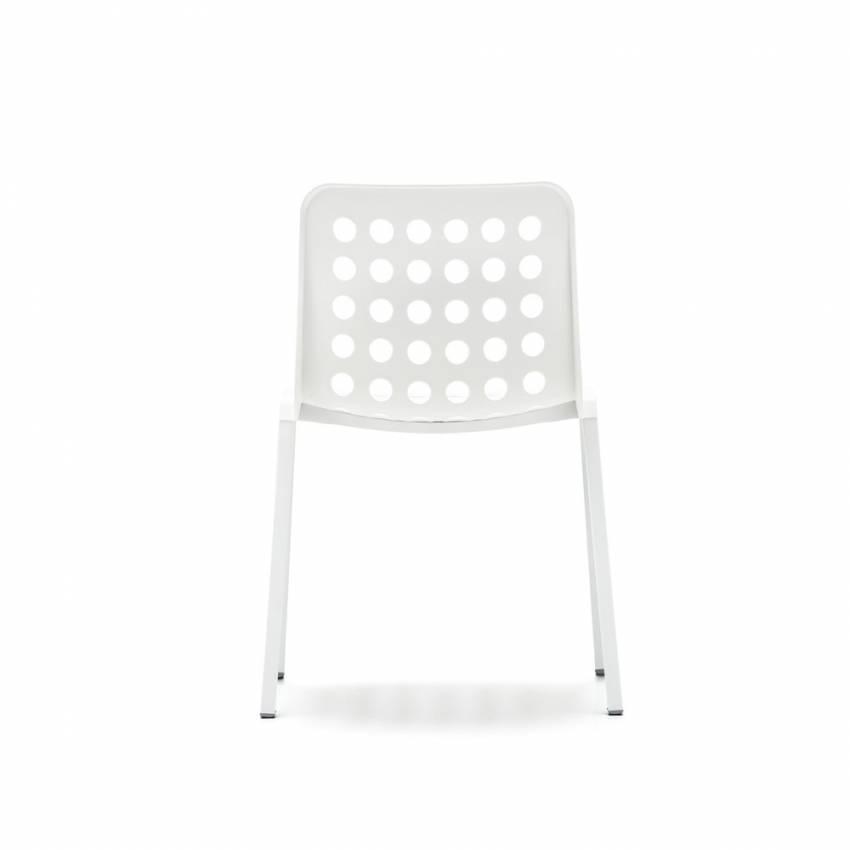 Lot de 4 chaises KOI-BOOKI 370 blanc - Mobilier Pedrali