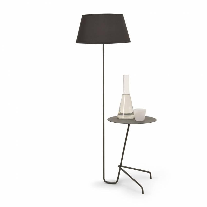 Lampadaire et table d'appoint ARTHUR / Noir