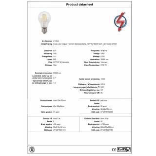 Ampoule LED full glass filament / culot E27