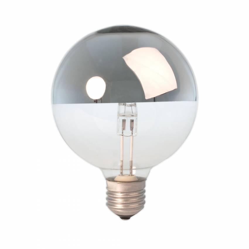 Ampoule halogène miroir argent / culot E27