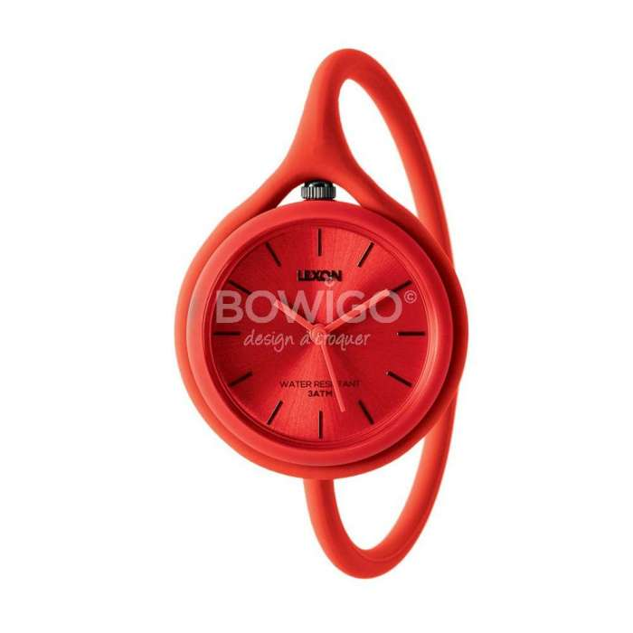 Montre mixte Take Time Original rouge - Lexon