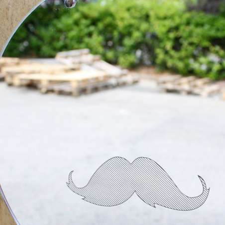 Miroir Crazy Family / Moustache