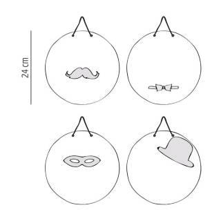 Miroir Crazy Family / Moustache