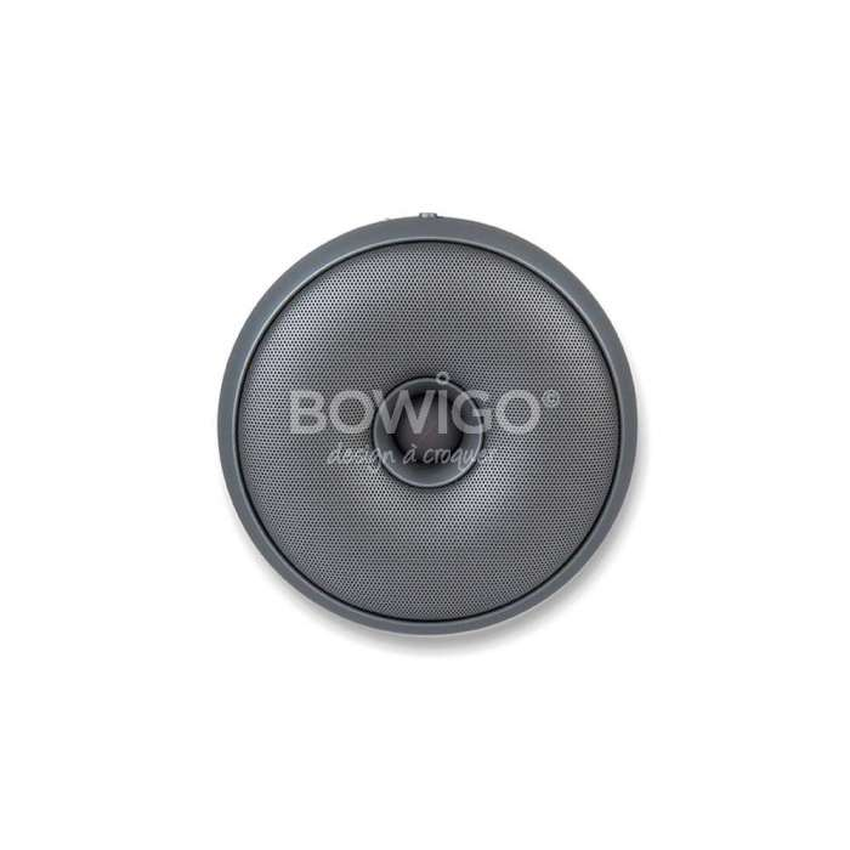 Enceinte sans fil bluetooth Hopp gris metal - Lexon