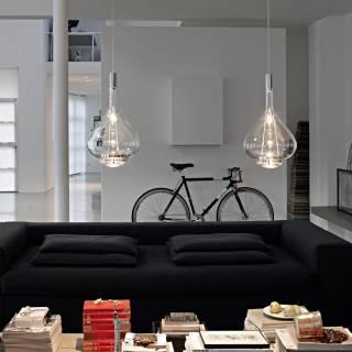 Luminaire Studio Italia - SKY FALL suspension LED en Verre transparent