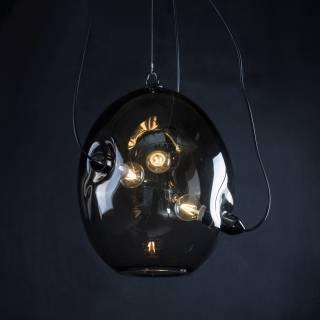 Suspension MEMBRANE en verre fumé / Ø. 38 cm / Innermost
