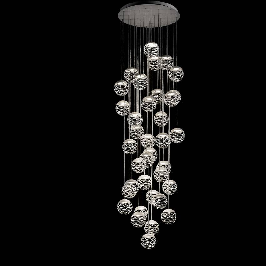 Suspension KELLY Cluster / 1 à 36 sphères blanc - Luminaire Studio Italia