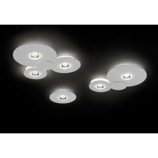 Luminaire Studio Italia - Plafonnier LED Bugia blanc Single, Double et Triple