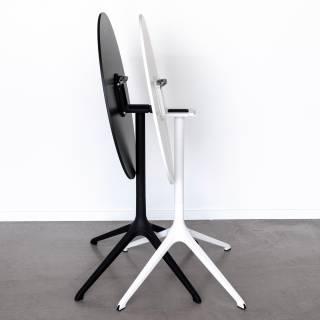 Kristalia / Table de bistrot pliante ELEPHANT / Ø 89 cm x H 76cm / Noir ou Blanc