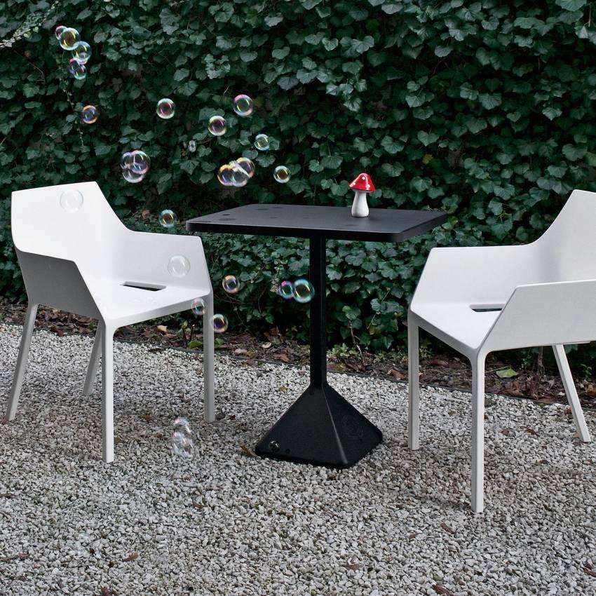 Chaise de jardin MEM – Empilable / Blanc / Kristalia