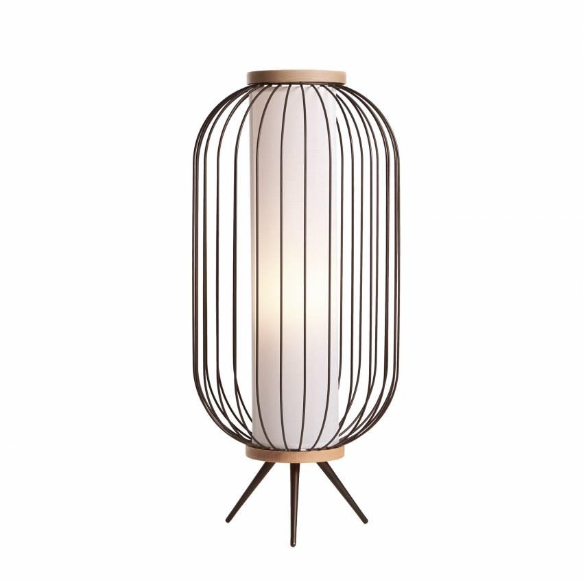 Lampe de sol CHAPLIN / Acier et Bois / h.80