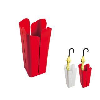 Porte parapluie PETALI en métal blanc ou rouge - Créativando