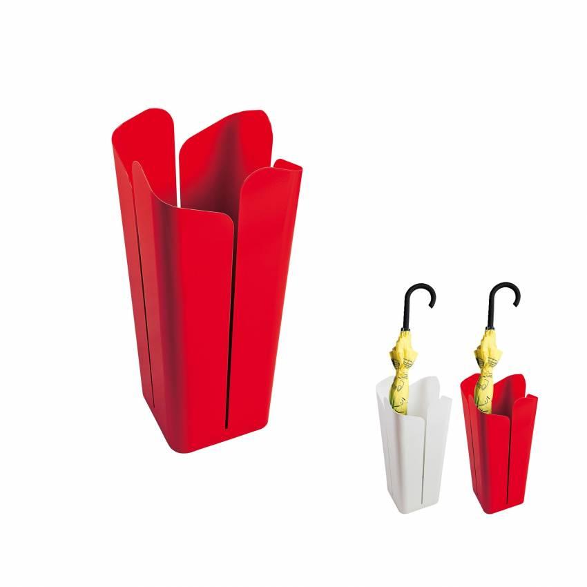 cr ativando porte parapluies petali en m tal blanc ou rouge. Black Bedroom Furniture Sets. Home Design Ideas