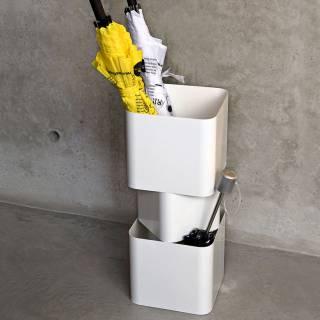 Porte-parapluies TOR en métal blanc ou noir - Créativando
