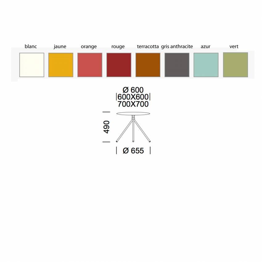 Chaise lounge de jardin NOLITA / Accoudoirs et assise basse / 7 coloris - Pedrali