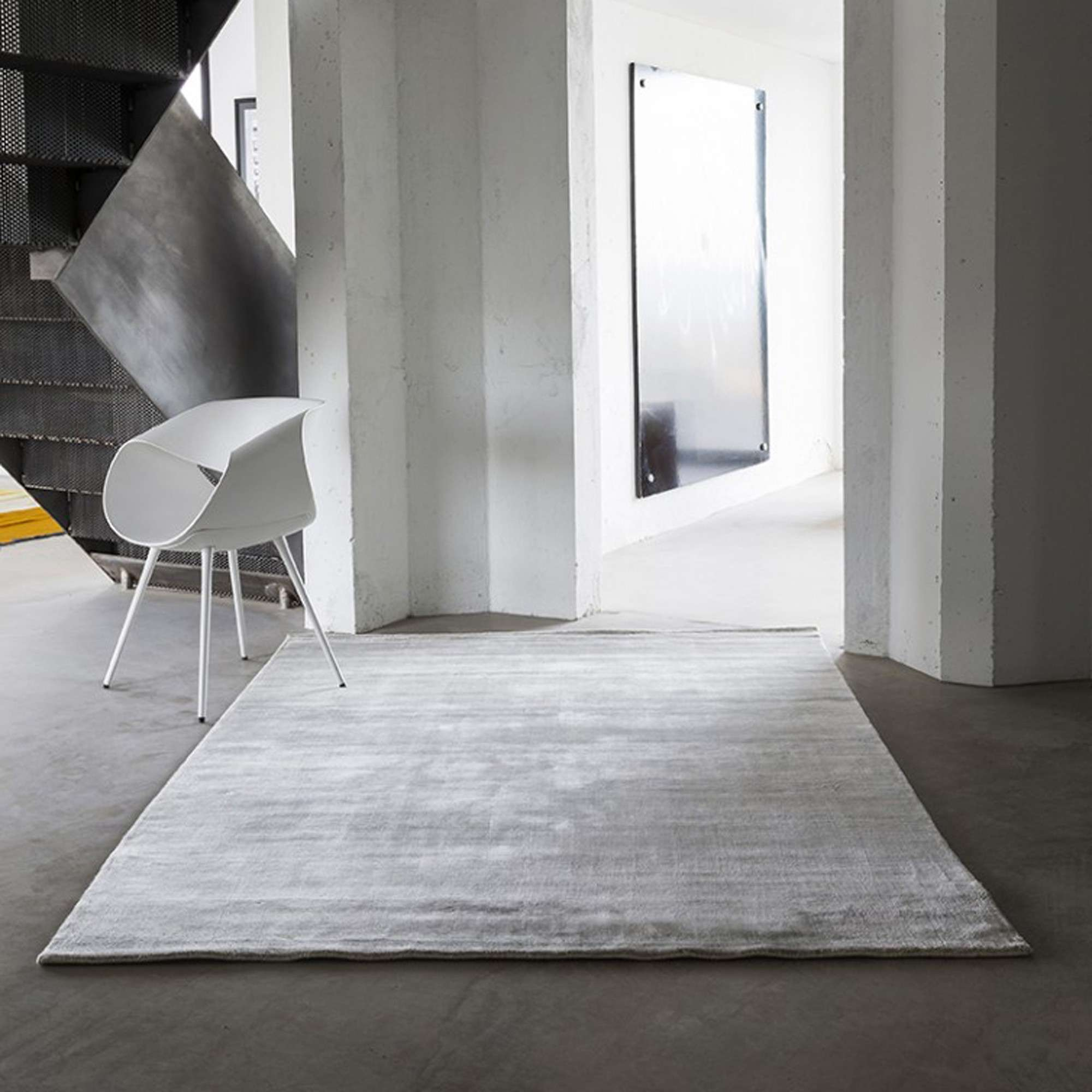 tapis bamboo fibre de bambou gris clair. Black Bedroom Furniture Sets. Home Design Ideas