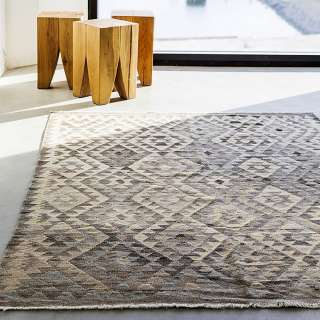 Tapis NATURAL kelims / Gris clair