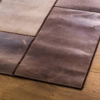 Tapis LEATHERrug NEW cuir / Marron