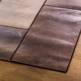 Tapis LEATHERrug NEW cuir / Marron
