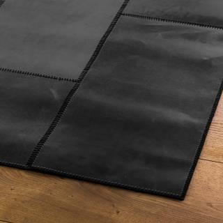 Tapis LEATHERrug NEW cuir / Noir