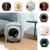 Mobilier pour chat LE CUBE hêtre / 7 coloris
