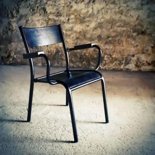 Fauteuil lounge vintage noir - La 510 Originale