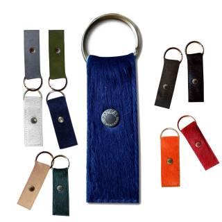 Porte Clés / Peau véritable teintée / 10 coloris