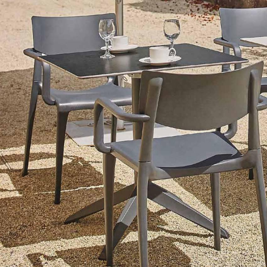 Table d'extérieur pliable QUITRO compact anthracite pied anthracite