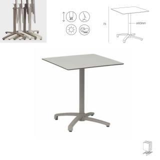 Table pliable d'extérieur KISO / Compact blanc