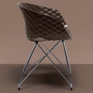 Chaise fauteuil UNI-KA piètement effel