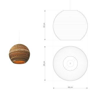 Suspension sphérique MOON 10 / Carton / Graypants