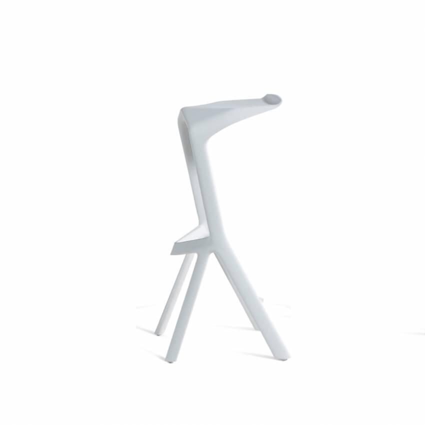Plank / Tabouret haut de bar MIURA / Blanc / H.78 cm
