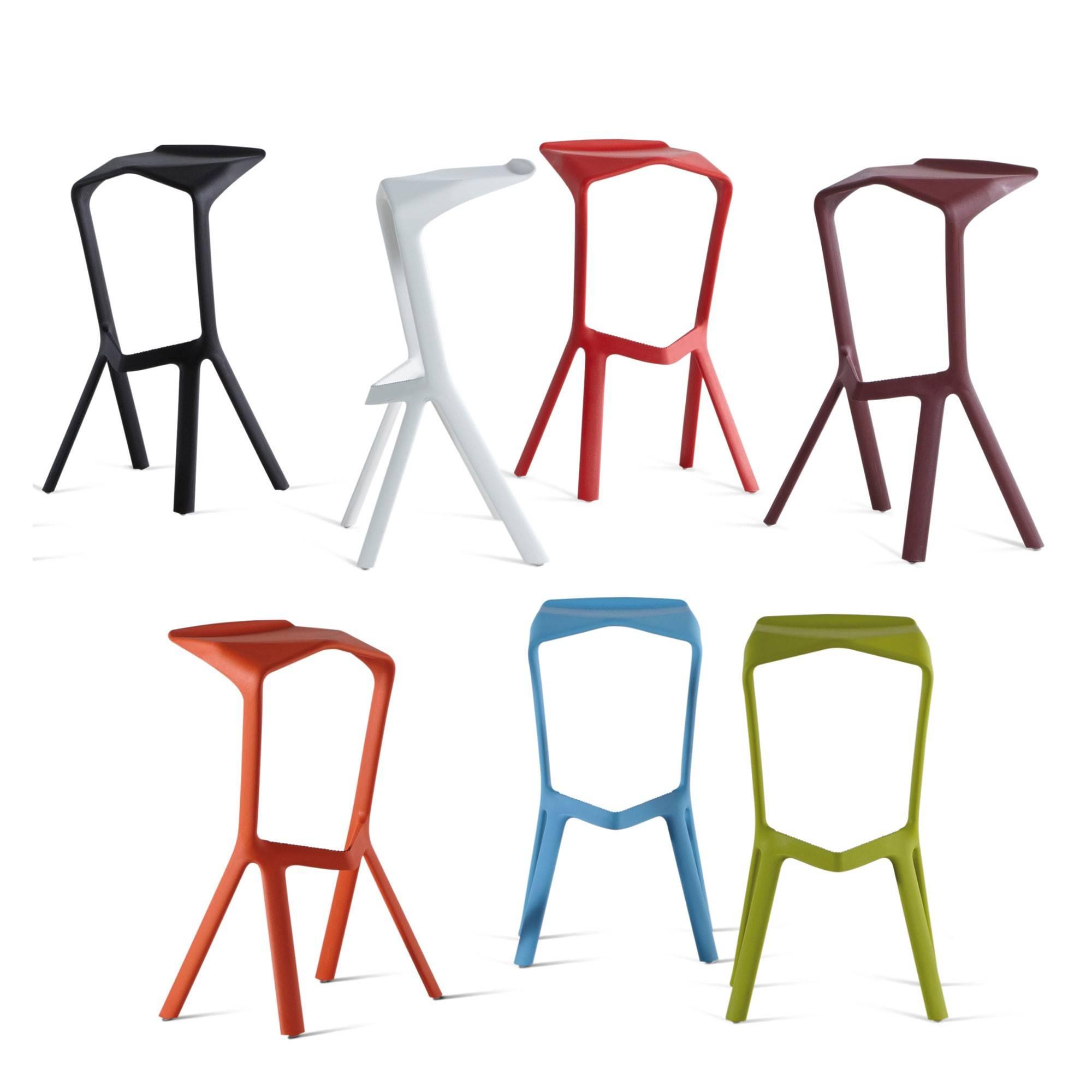 plank tabouret haut d 39 ext rieur miura orange cm. Black Bedroom Furniture Sets. Home Design Ideas