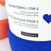 Serviette de bain XXL / Coton Bleu