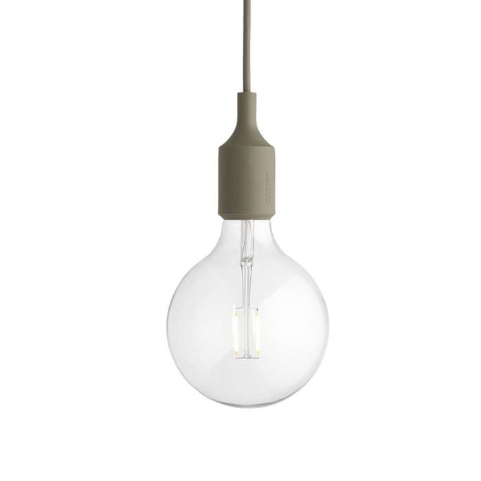 Suspension E27 gris clair - Muuto